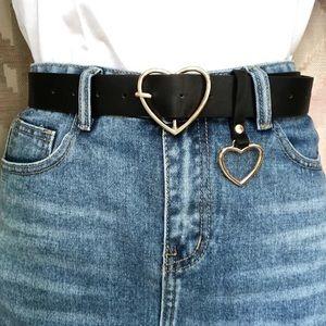 Gold Heart shaped Buckle Belt